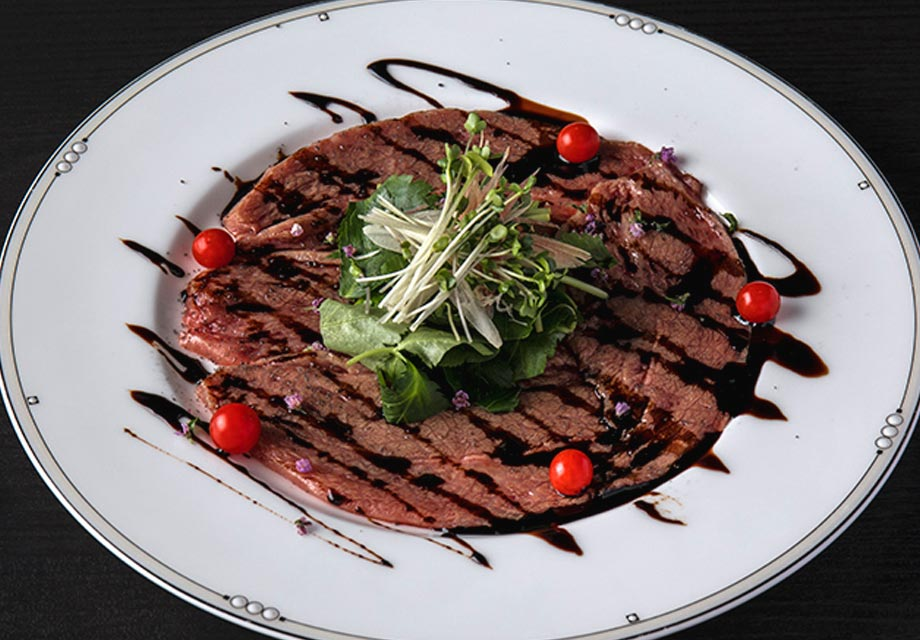 Lean meat carpaccio